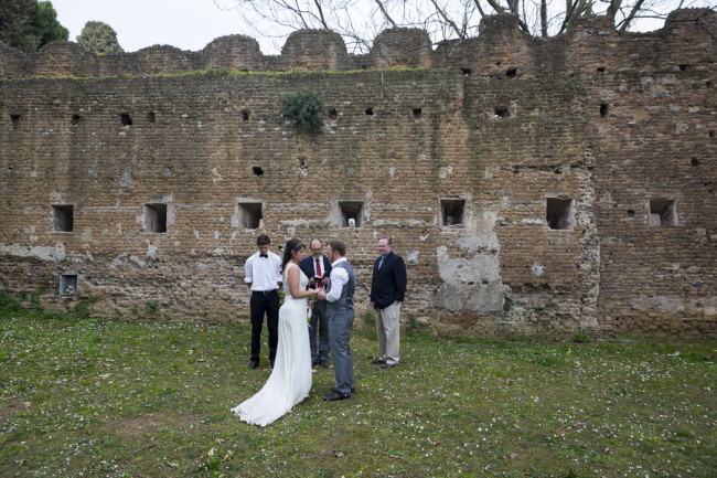 Intimate Wedding ceremony at Aventine Hill in Rome