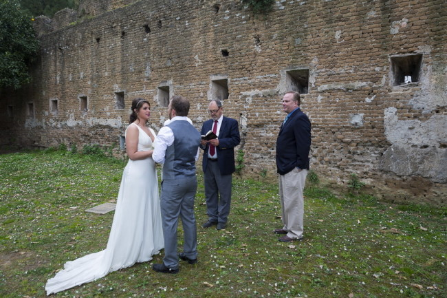 Intimate wedding ceremony at Aventine Hill