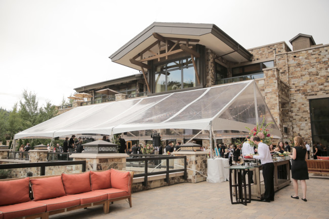 Outdoor Reception For Wedding At The St Regis Deer Valley