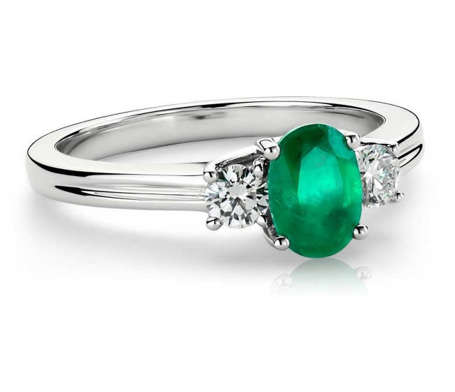 emerald and diamond ring from BlueNile