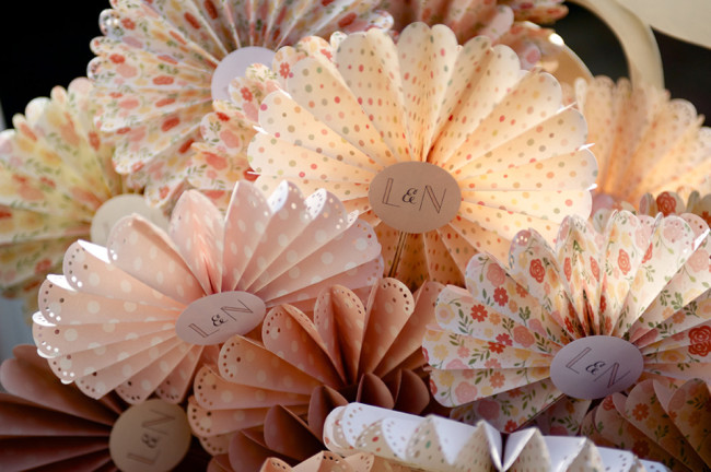 Wedding paper pin wheels