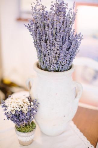 dried purple flower bunch in jug