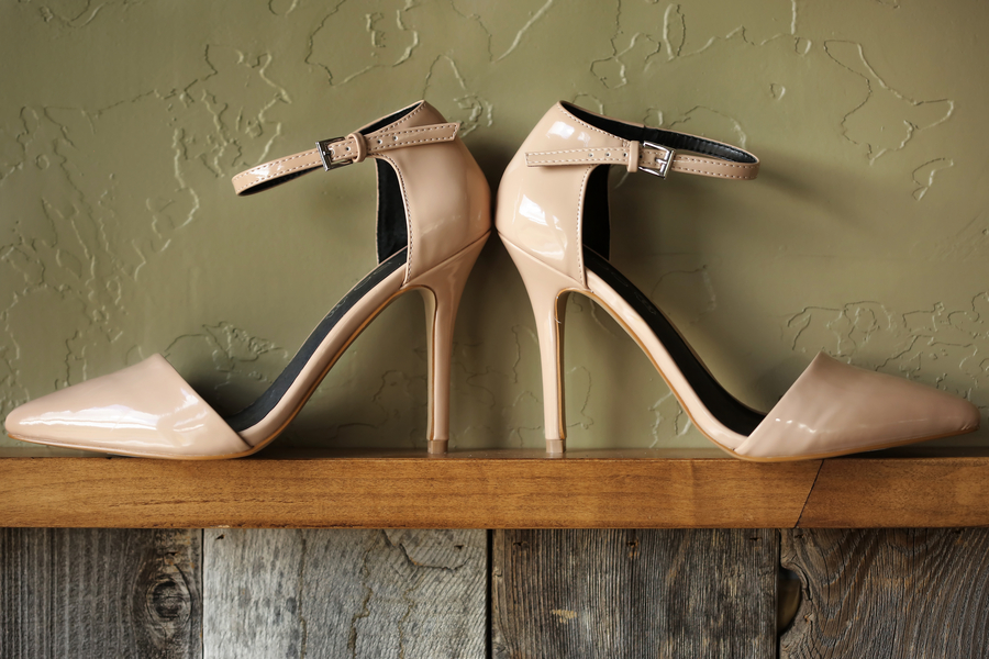 Nude Ankle Strap Pumps