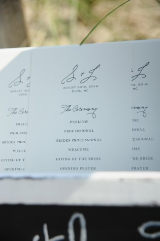 Simple elegant basic text wedding ceremony program