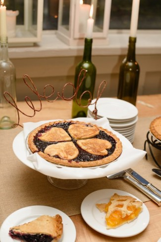 Pie with heart shape cut outs
