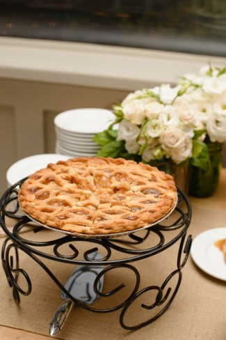 Pie for wedding cake alternative