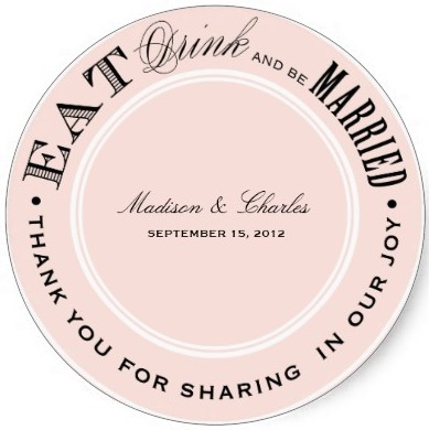 wedding sticker example