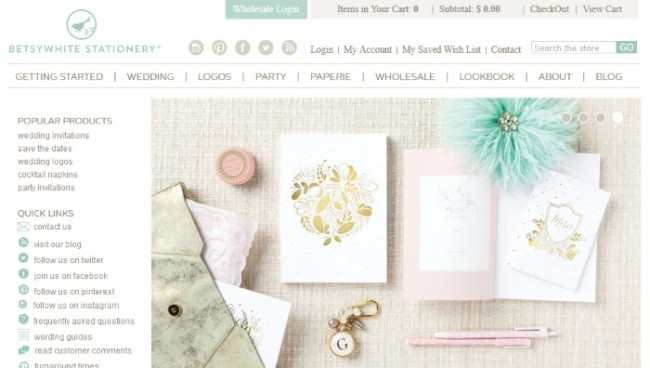 betsywhite stationery homepage