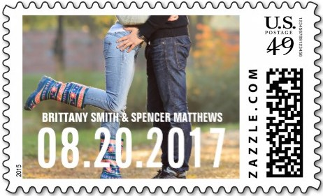 wedding stamp example from Zazzle