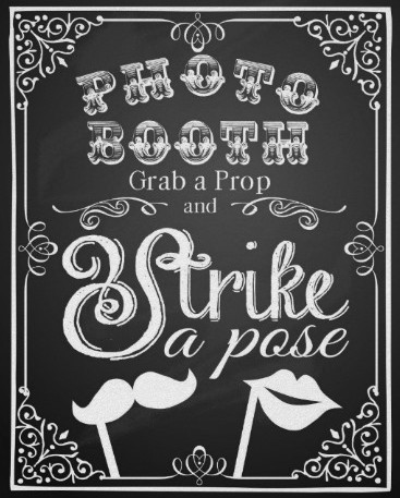 photo booth sign for wedding