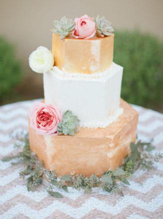 Hexagonal Wedding Cake example