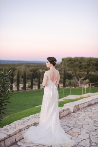 Outdoor bridal shoot at Rancho Mirando