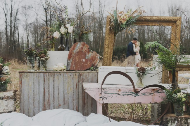 Rustic engagement shoot styled by KittySloane
