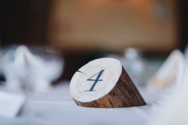 wood round table number