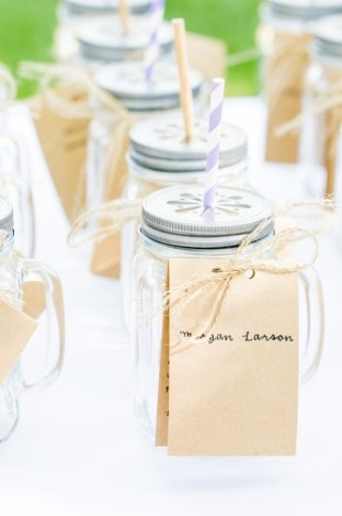 14 cute summer wedding favor ideas jam wedding favors 1 mason jar drink glasses with paper straws and junglespirit
