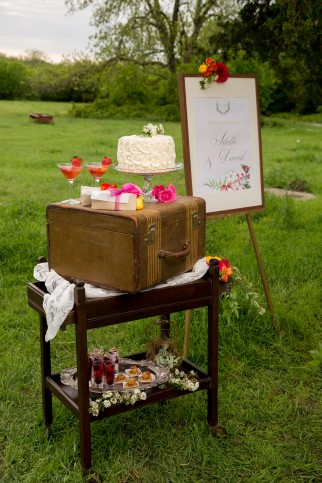 Styled shoot with catering by Uncle Willie's Pies and Catering and vintage rentals by Rent My Dust
