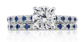 Riviera Pavé Sapphire and Diamond Ring Blue Nile
