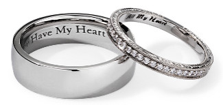 Blue Nile's wedding band engraving service