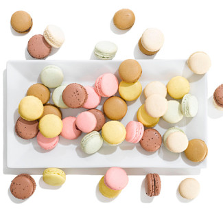 plate of colorful french-classic-macaroons