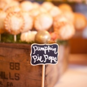pumpkin pie pops for wedding