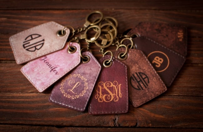 Bridemaids gift – Personalized luggage tag Leather