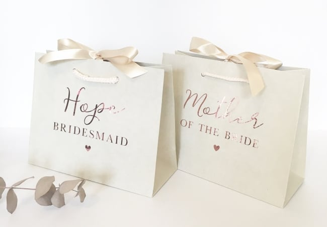 Bridesmaid Gift Bag for wedding day