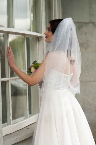Cathedral Veils Are Considered Formal And Should Be Worn With A Semi Or Length Gown This Veil Type Extend Past The Bride S Train
