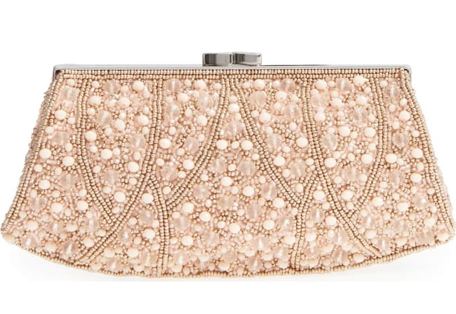Luxury bridesmaids clutch – Beaded Rivoli Clutch