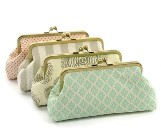Mismatched Clutch Purses gifts for bridemaids
