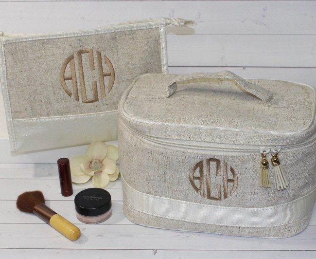 Monogram Makeup Bag for bridesmaids gift