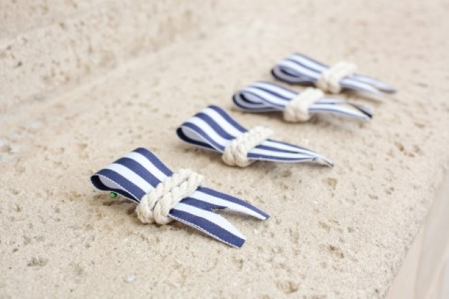 nautical themed boutonnieres