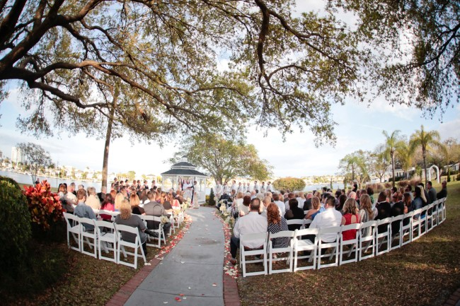 Wedding ceremony at Davis Islands Garden Club