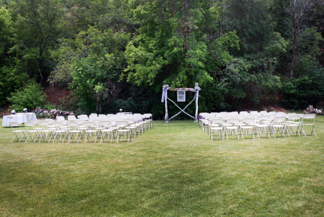outdoor ceremony on grass