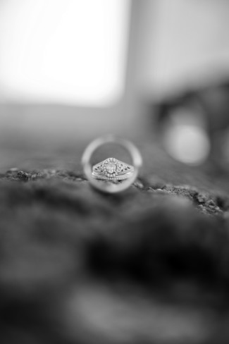 Engagement ring with a halo