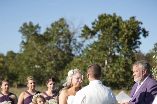 Outdoor rustic Wedding ceremony at Cloverdale Barn
