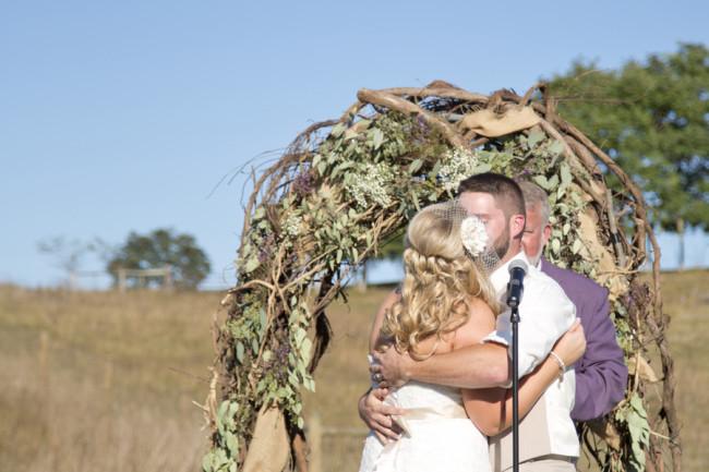 Purple Rustic Wedding at Cloverdale Barn