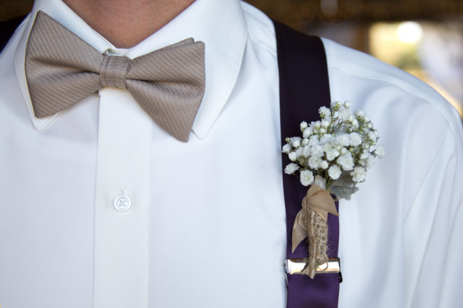 Baby's breath boutonniere created by Buttercups Floral Design