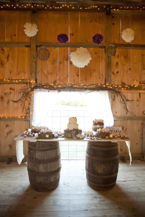 Purple Color Rustic Wedding At Cloverdale Barn Love