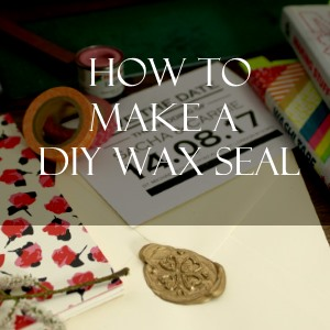 how to make a DIY wax seal