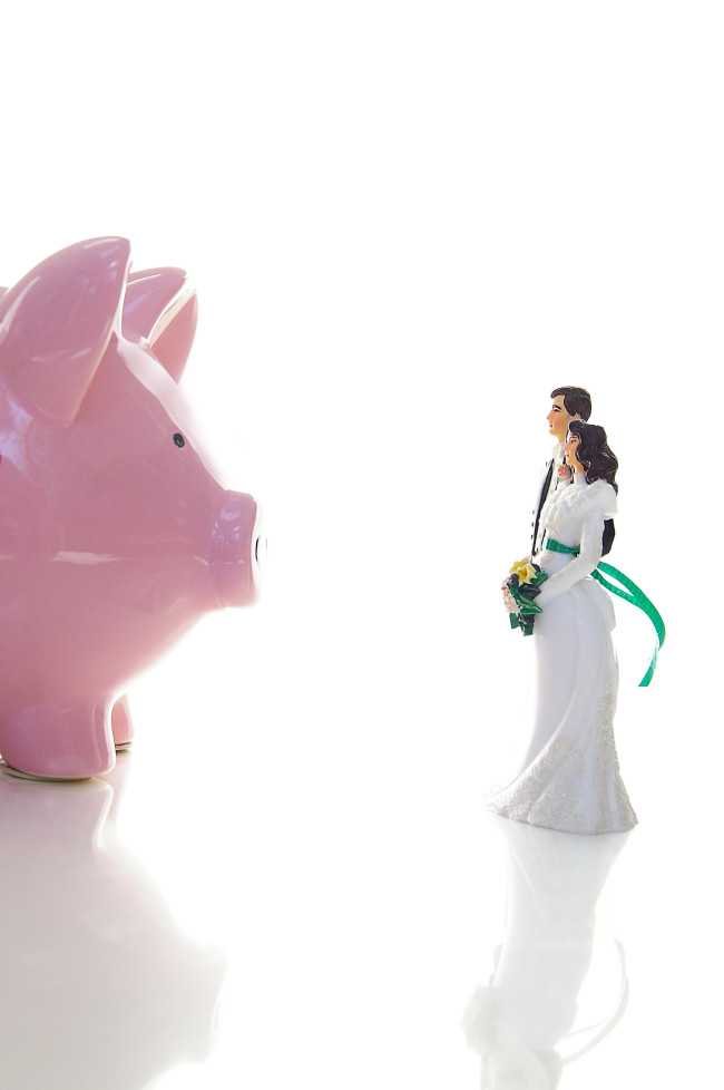 Credits Shutterstock, wedding couple and piggy by zimmytws -bank63304912