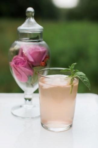 Plum Basil Fizz summer cocktail