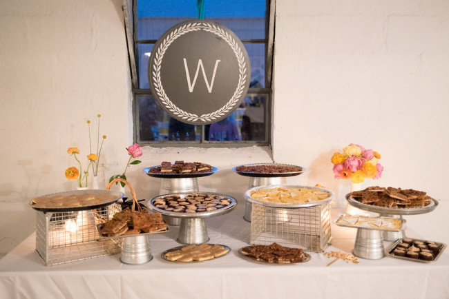 Wedding dessert table created by Great Expectations Catering