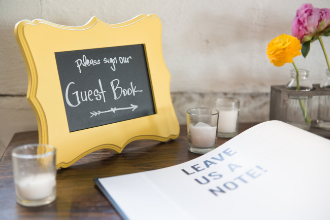 Wedding guests book created by shutterfly