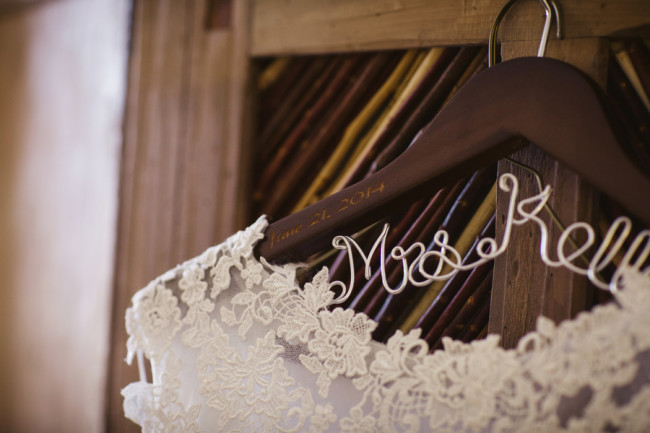 Custom word bridal hanger