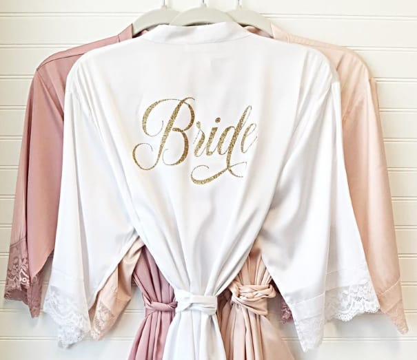 silk robe for morning gift for bride