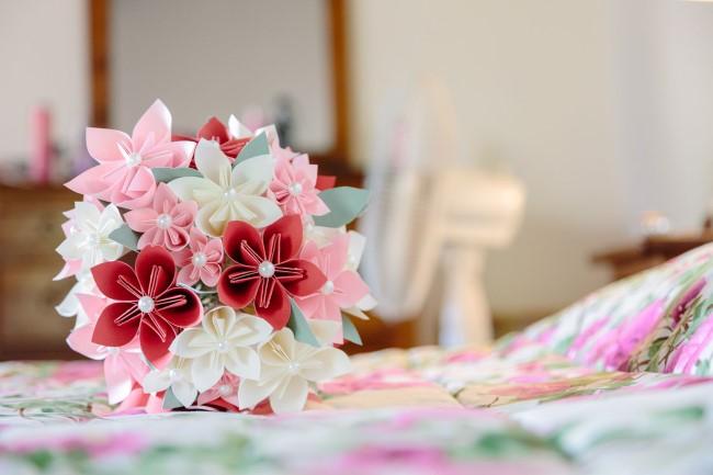 Paper floral bouquet