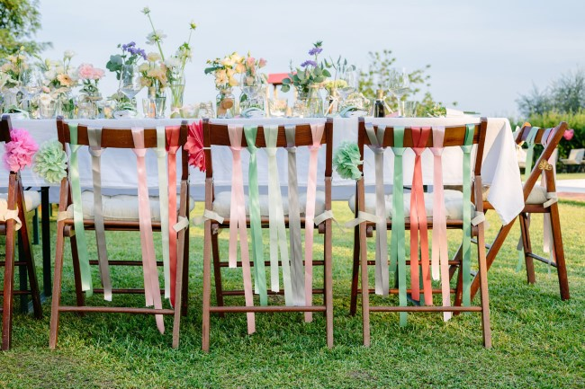 Brightly colored wedding reception created by Wedding in Wonderland