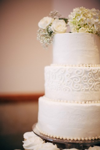 3 tier round wedding cake created by The Bake Shoppe (