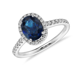 oval cut sapphire engagement ring from blue nile