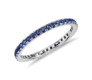 Sapphire eternity ring from Bluenile